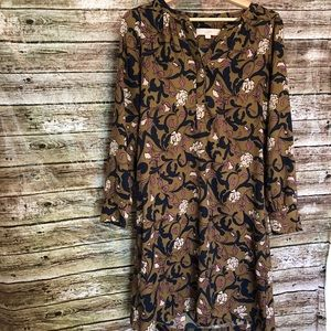 LOFT Beautiful Long Sleeve Floral Dress